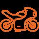 Motorcycle Orange